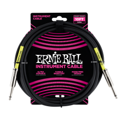 Ernie Ball Instrument Cable 3m (10FT) Sort
