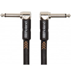 Roland Black Series Instrument Cable 15cm Angled