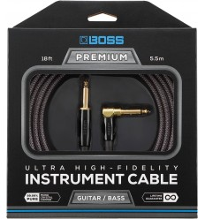 BOSS Premium Instrument Cable 5.4m - Angled